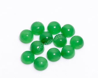 natural Jade stone for jewelry making and Macrame GD4 Green Jade Cabochon gemstone
