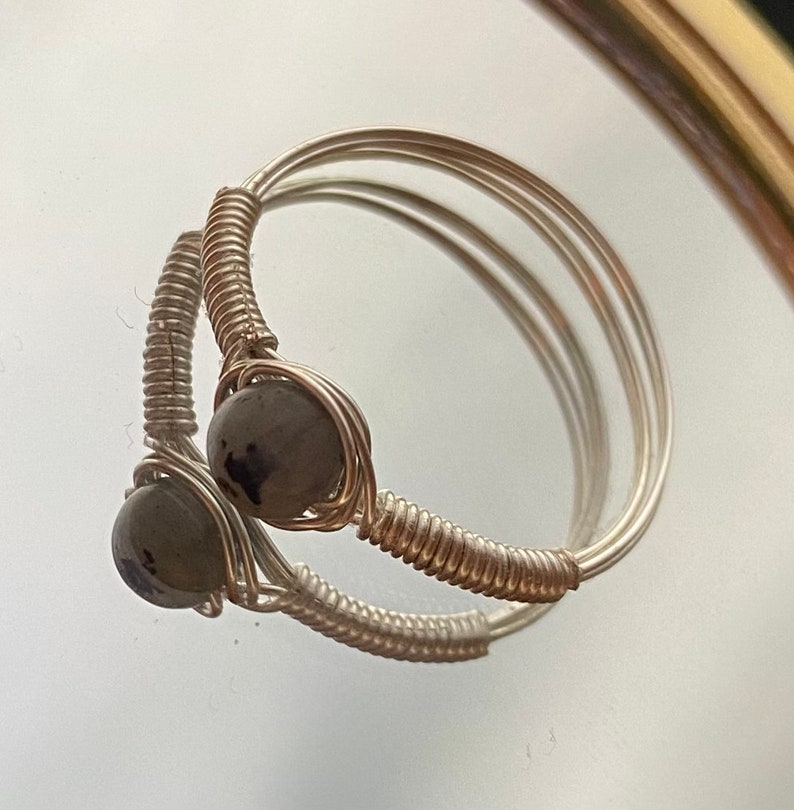handmade with assorted gemstones Crystal rings