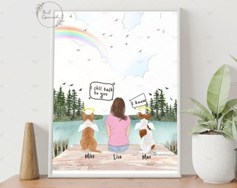 They still talk about you Custom Pet Portrait, Dog Picture Frame Memorial Print, Pet Memorial Gift, Loss of Dog Gift for Dog Lover