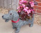 Lovely wicker brushwood dog planter