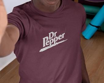 Dr Pepper Burgundy Hoodie White Print  clothing Drinks Top