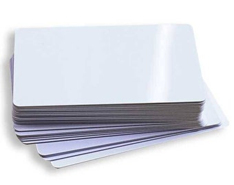 Double sided Aluminum sublimation blank cards for business, IDs, christmas cards, Santa drivers license, pet IDs