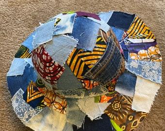 Upcycled Denim Patchwork Hat