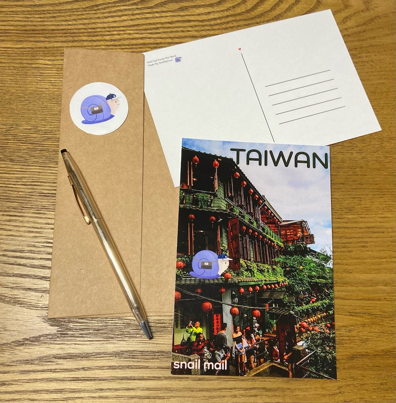Mail Snail Travels The World Taiwan