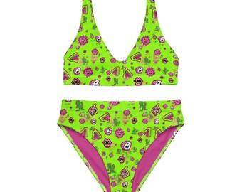 Green YumYum Recycled high-waisted bikini Recycled high-waisted bikini