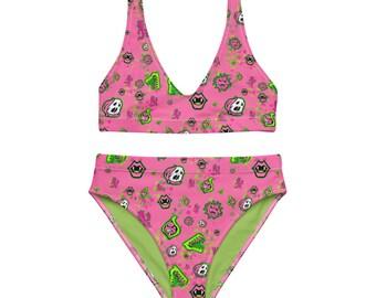 Pink YumYum Recycled high-waisted bikini