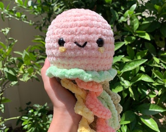 Crochet Colorful Jellyfish