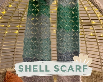 Crochet Shells Scarf