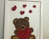 Quadro Teddy Bear orsetto con cuore rosso