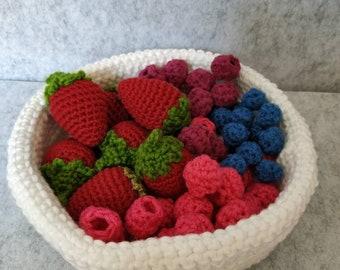 21 teiliges Obstset für den Kaufladen
