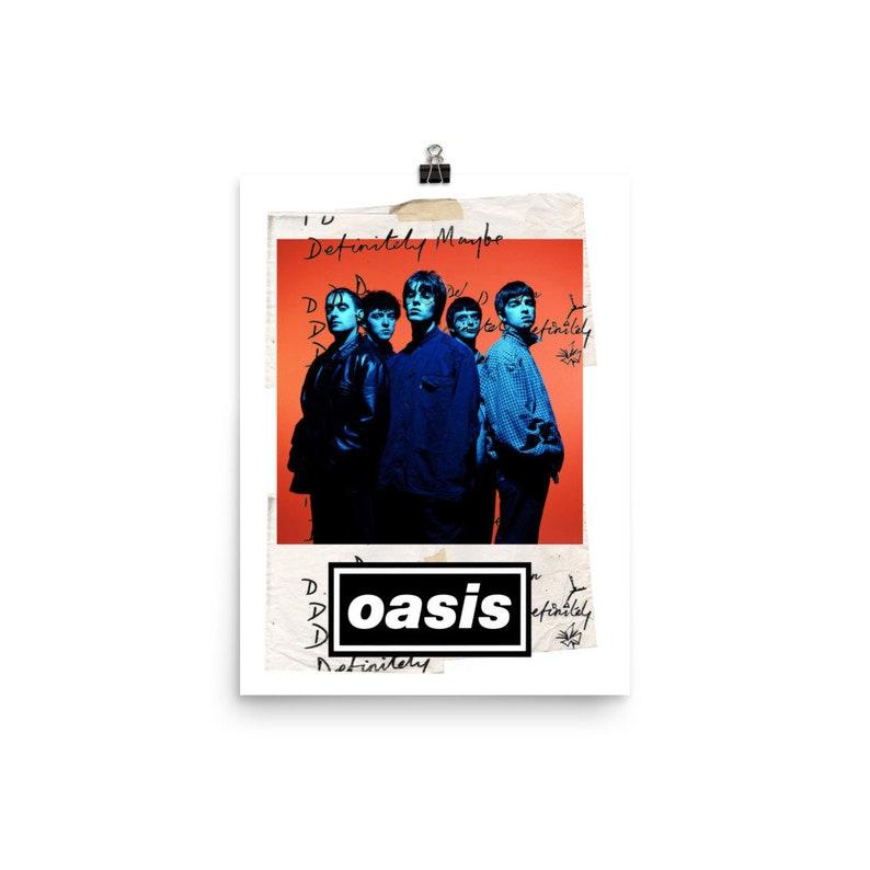 Oasis Definitely Maybe Lyric Music Band Poster