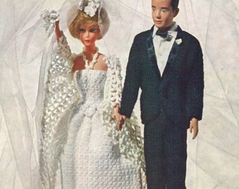 Vintage Barbie Knitted Pattern Design #565
