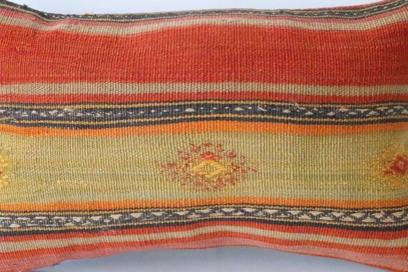 Kilim Pillow 20/'/' x 12/'/' inches Cushion Cover decorative Pillow Turkish Kilim  Pillow Vintage Lumbar Pillow   204