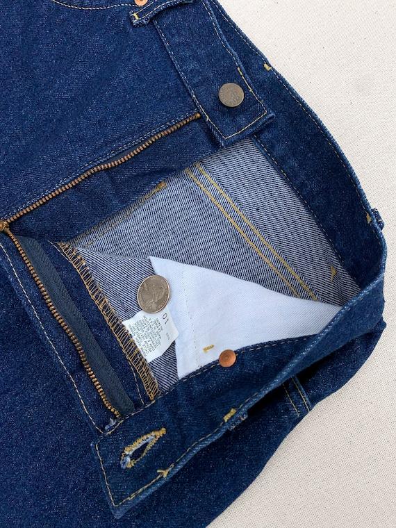 Rare Vintage 1980's Lee Riders Raw Denim Jeans - image 2