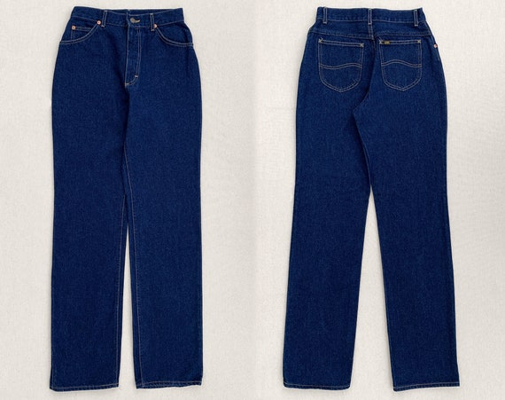 Rare Vintage 1980's Lee Riders Raw Denim Jeans - image 1