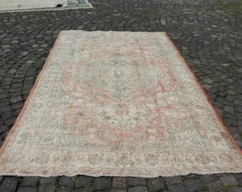 Vintage Turkish Rug • Oriental Rug 8x10 • 9.9x6.1 Feet Rug • Living Room Rug 8x10 • Room Size Rug 8x10 • Bedroom Rug 8x10 • Kitchen Rug 8x10