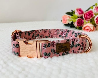 Beautiful London Liberty Fabric Pet Dog collar with Plastic Safety Clasp Average size dog sizes by demand!!!