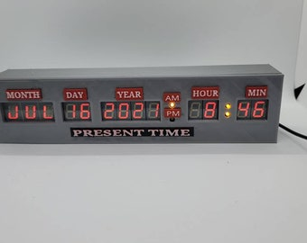 Back to the future time circuit clock