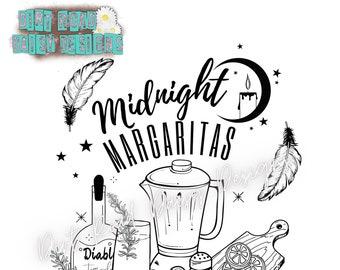 Midnight Margaritas png digital design