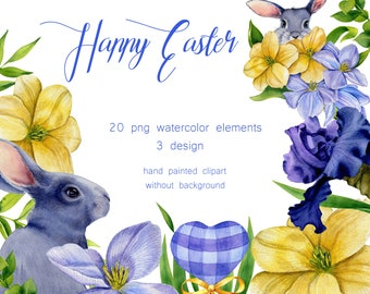 commercial use hyacinth nest feathers watercolor Wicker Easter basket clipart SPRING Essentials Easter eggs quail egg PNG springtime