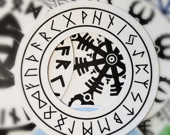 Valknut in Futhark Circle Viking Nordic Sacred Protection Handmade Talisman Runes Pendant Celtic Scandinavian Druid Jewelry.