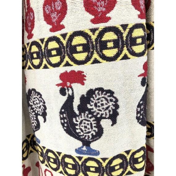 Vtg 1950s Full Circle Skirt Novelty Print Rooster… - image 4
