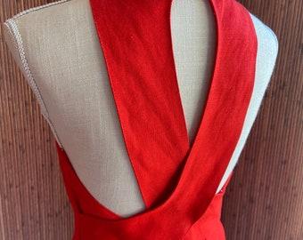 Red Hot Vintage Halter Dress
