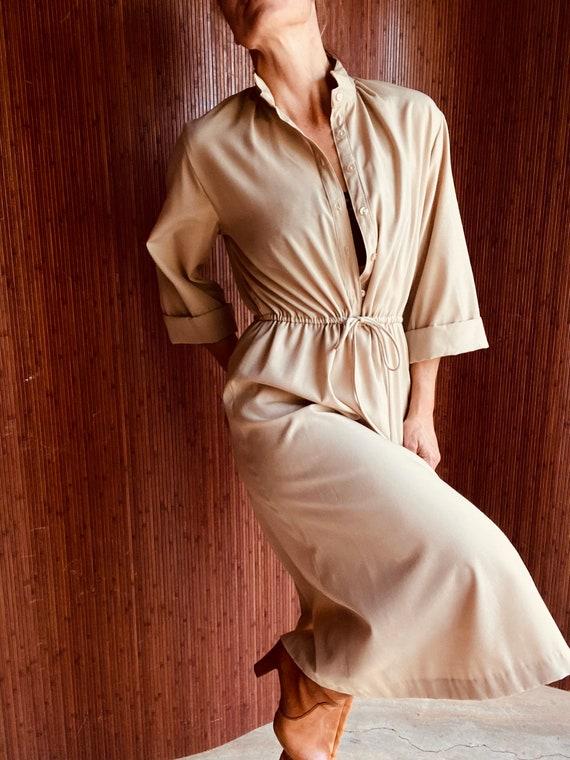 Vintage Handmade Tan Dress