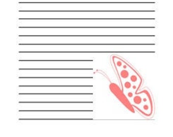 JOURNAL PAGES -  Butterflies in Pink