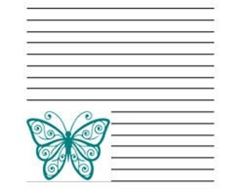 JOURNAL PAGES - Butterflies in Teal