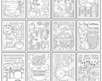 COLORING PAGES - Coffee Lovers