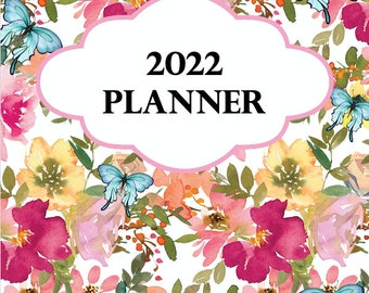 2022 PLANNER - Floral and Butterfly Design