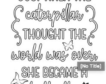 COLORING PAGES - Butterfly Quotes