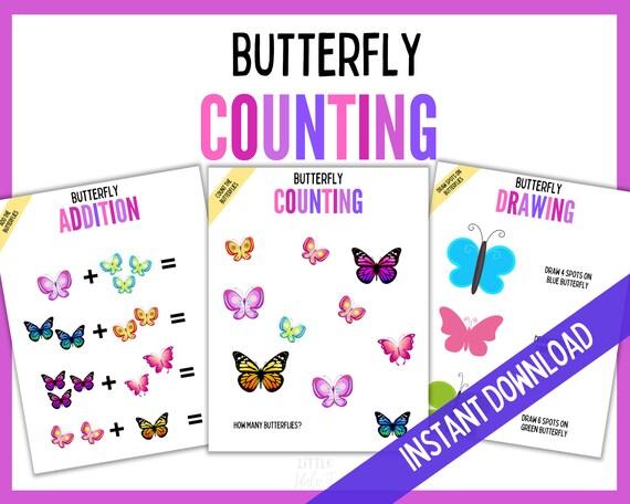 Educational Printables Counting Butterflies Preschool
