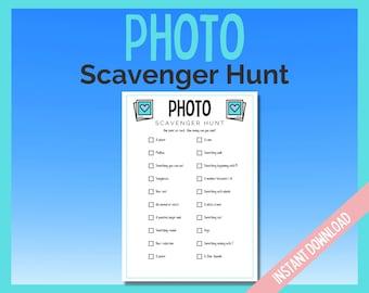 Photo Scavenger Hunt Printable Game