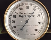 Vintage Brass Abercrombie Fitch Co. Lufft Durotherm Model Hygrometer Made in GERMANY Nautical Weather Memorabilia Circa 1950 39 s