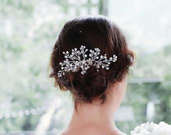 Bridal Hair Comb   Crystal Floral Bridal Hair Comb   Flower Hair Accessories   Wedding Hair Comb   Hair Comb Set   Bridal Hair Accessories