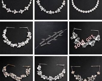 Wedding Hair Accessories-Rhinestone Vine Wedding Vine, Flower Pearl Bridal Vine, Handmade Hair Accessories, Crystal Headwear