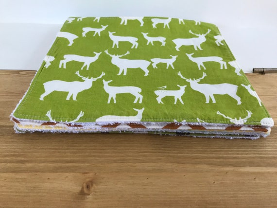 Reusable fabric kitchen roll squares
