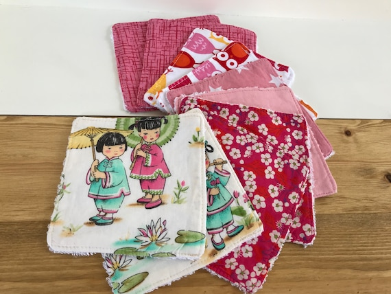 Reusable cotton fabric wipes