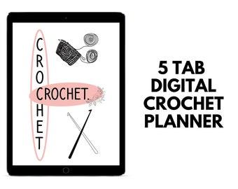 Crochet Planner   Digital Blank Crochet Project Planner   Yarn Stash Tracker   Crochet Project Planning Sheets