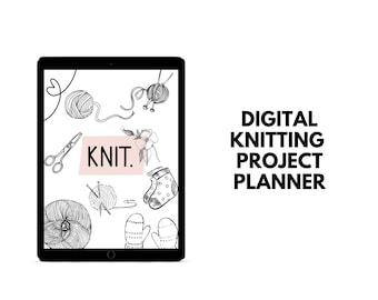 Knitting Planner   Digital Knitting Project Planner   Yarn Stash Tracker   Knit Project Planning PDF   Knitting Needle Inventory