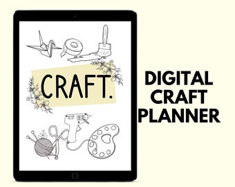 Craft Planner   Digital Crafting Planner   Project Planner   Sewing Planner   Crochet Planner   Knitting Planner   Paper craft planner