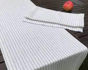 Striped linen -cotton tread