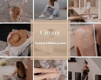 Bloggers creamy preset   Creamy   Lightroom   filter   Mobile & Desktop   Influencer   Beige tones  