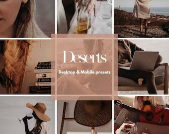 Bloggers preset   Desert   Lightroom   filter   Mobile & Desktop   Influencer   warm tones  