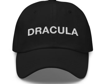 Embroidered Dad hat Dracula