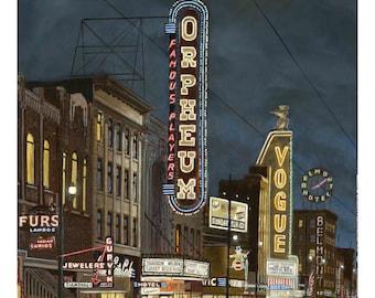 Marquee Magic by Tom Carter | Theatre | Granville Street | Orpheum | Belmont | Vancouver | Noir | Vintage | Hotel | Vogue