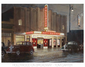 Hollywood on Broadway by Tom Carter | Theatre | Theater | Vancouver | Retro | Vintage | Art Deco | Packard | Noir | British Columbia