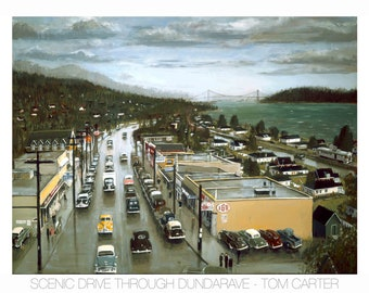 Scenic Drive Through Dundarave by Tom Carter | Vancouver | Street Car | British Columbia | Canada | Vintage | Dundarave | Lions Gate Bridge